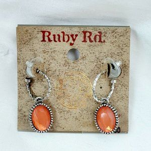 Ruby Rd Dangle Pierced Earrings Color Splash Coral